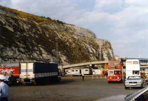 White Cliffs above Dover Harbour, ca. 1980