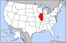 Map of the U.S. with Illinois highlighted