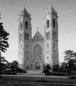 Neo-Gothic Sacred Heart Cathedral in  is the fifth largest cathedral in the United States.