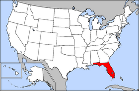Map of the U.S. with Florida highlighted
