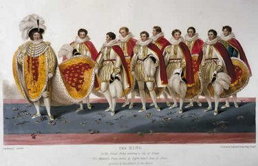 George IV's train was borne by eight eldest sons of peers and by the Master of the Robes.