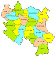 Districts in Central Serbia