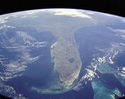 Florida taken from NASA Shuttle Mission STS-95 on 31st October 1998.