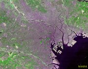 Satellite photo of Tokyo taken by 's .
