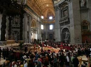©Two million people reportedly viewed Pope John Paul II's body lying in state.