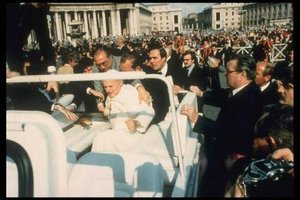 Pope John Paul II after being shot.