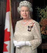 Her Majesty  , wearing the  and