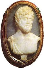 Onyx cameo portrait of Hadrian